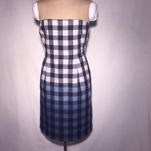 Gap Ombre Gingham Strapless Dress